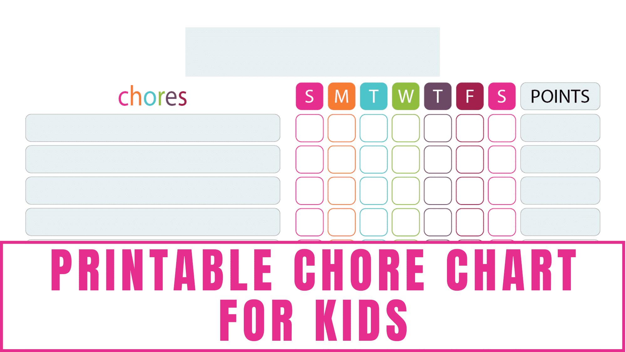 This bright and cheery printable chore chart for kids is a great way to motivate your kids to help out around the house.
