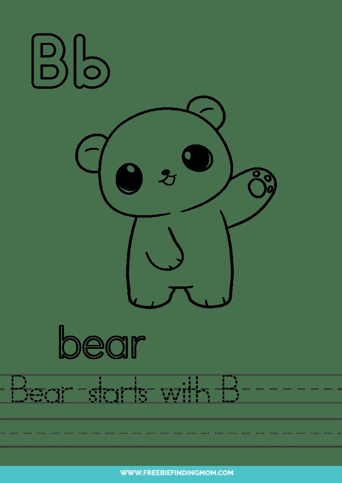 printable kindergarten letter worksheets letter B worksheets for kindergarten
