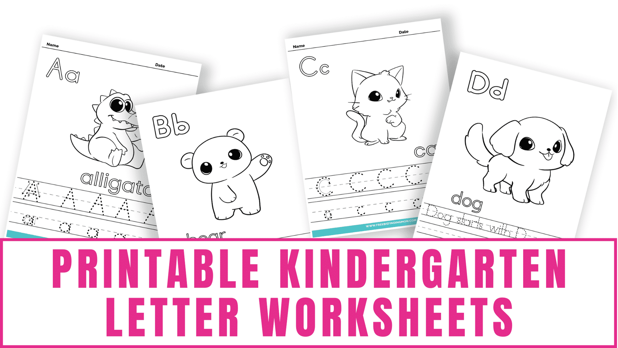 These cute printable kindergarten letter worksheets focus on letter formation and words that start with letters of the alphabet. You can also incorporate letter sound learning as well.