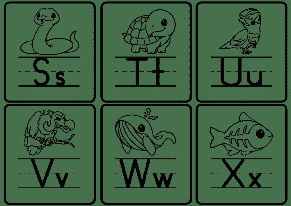 printable letter flashcards PDF S-X