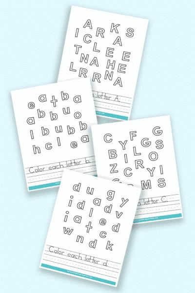 printable letter recognition worksheets PDF downloads