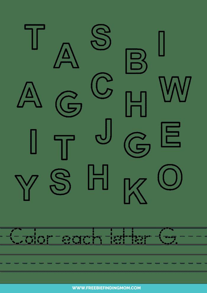 printable letter recognition worksheets PDF letter F recognition worksheets
