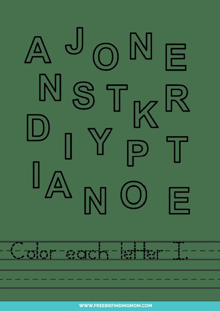 printable letter recognition worksheets PDF letter I recognition worksheets