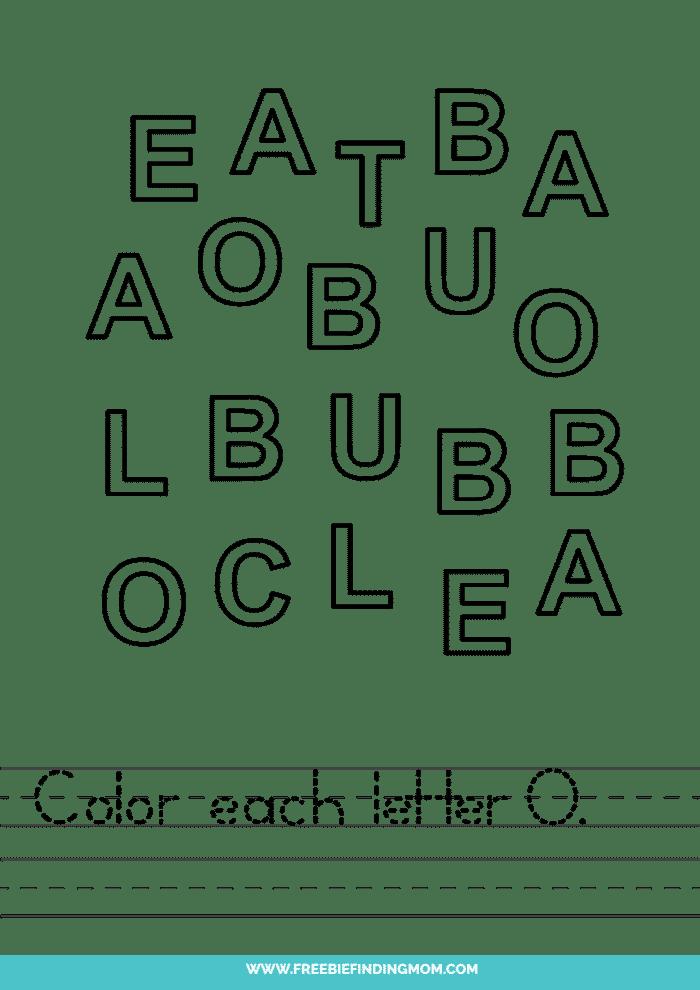 printable letter recognition worksheets PDF letter O recognition worksheets