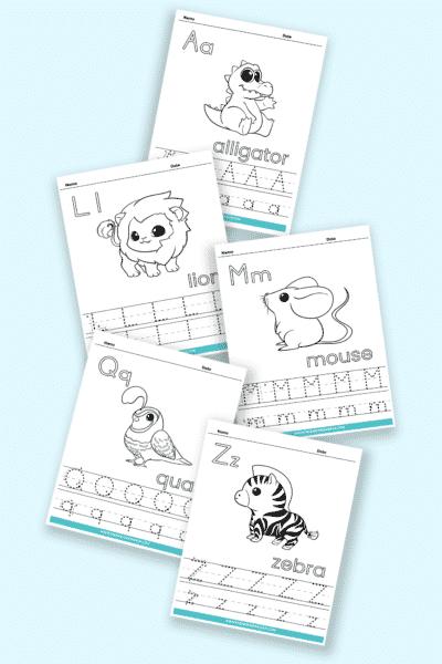 printable letter tracing worksheets PDF downloads