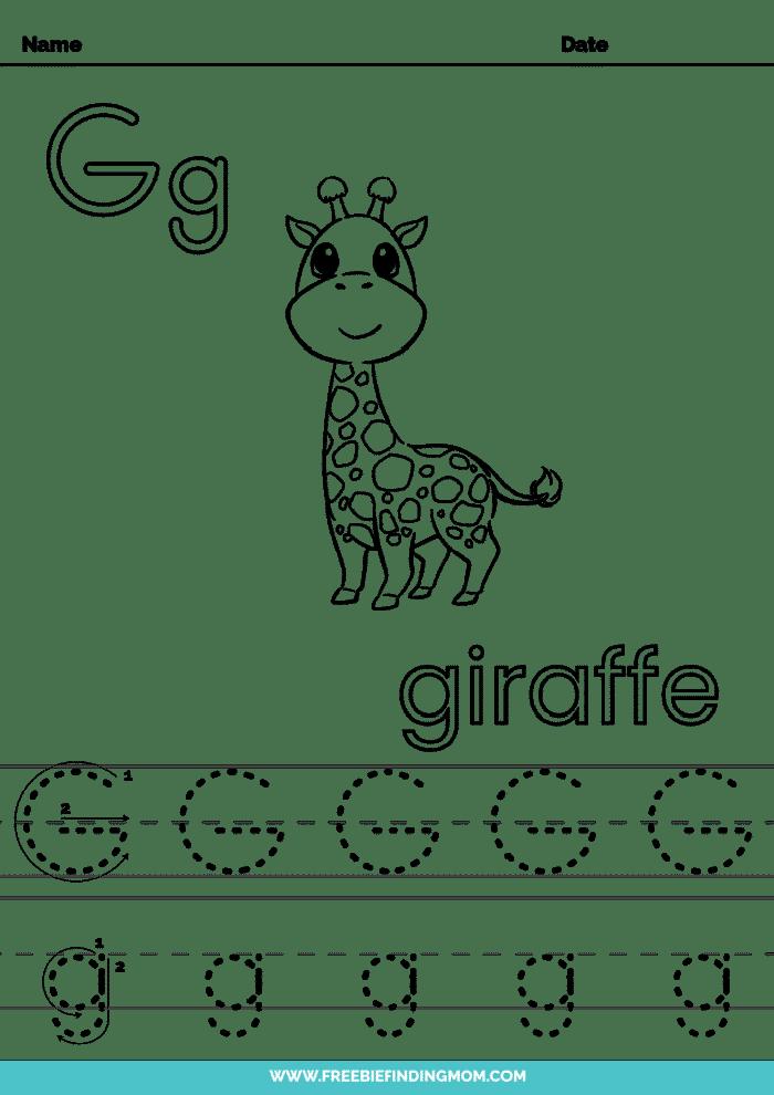 printable letter tracing worksheets PDF tracing letter G