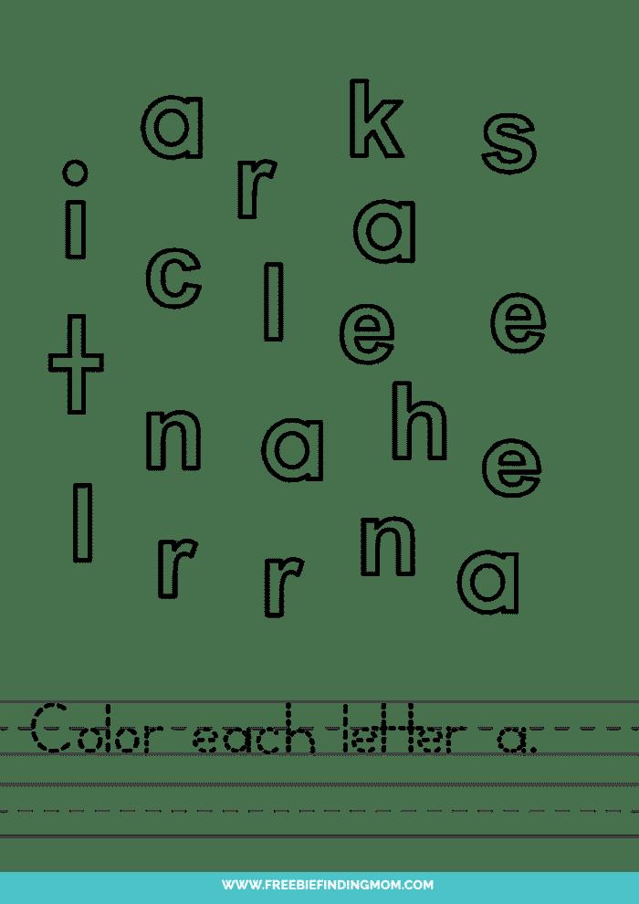 printable preschool letter worksheets lowercase A worksheets for preschool