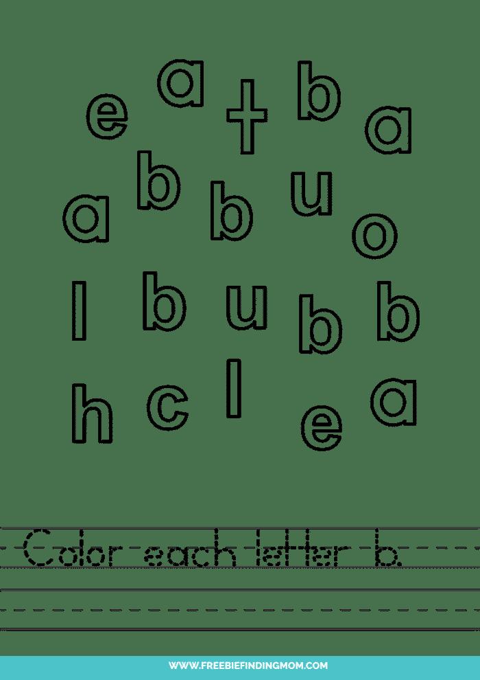 printable preschool letter worksheets lowercase B worksheets for preschool