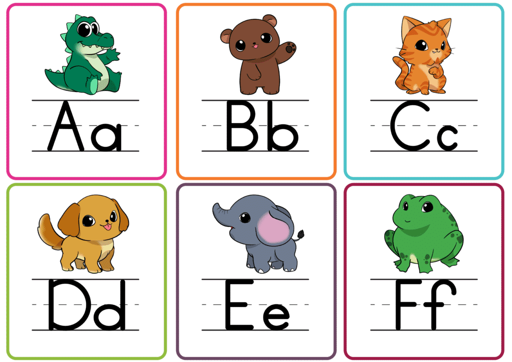 These printable preschool letter worksheets of printable letter flashcards in color are a great teaching tool for kids when they are learning their ABCs.