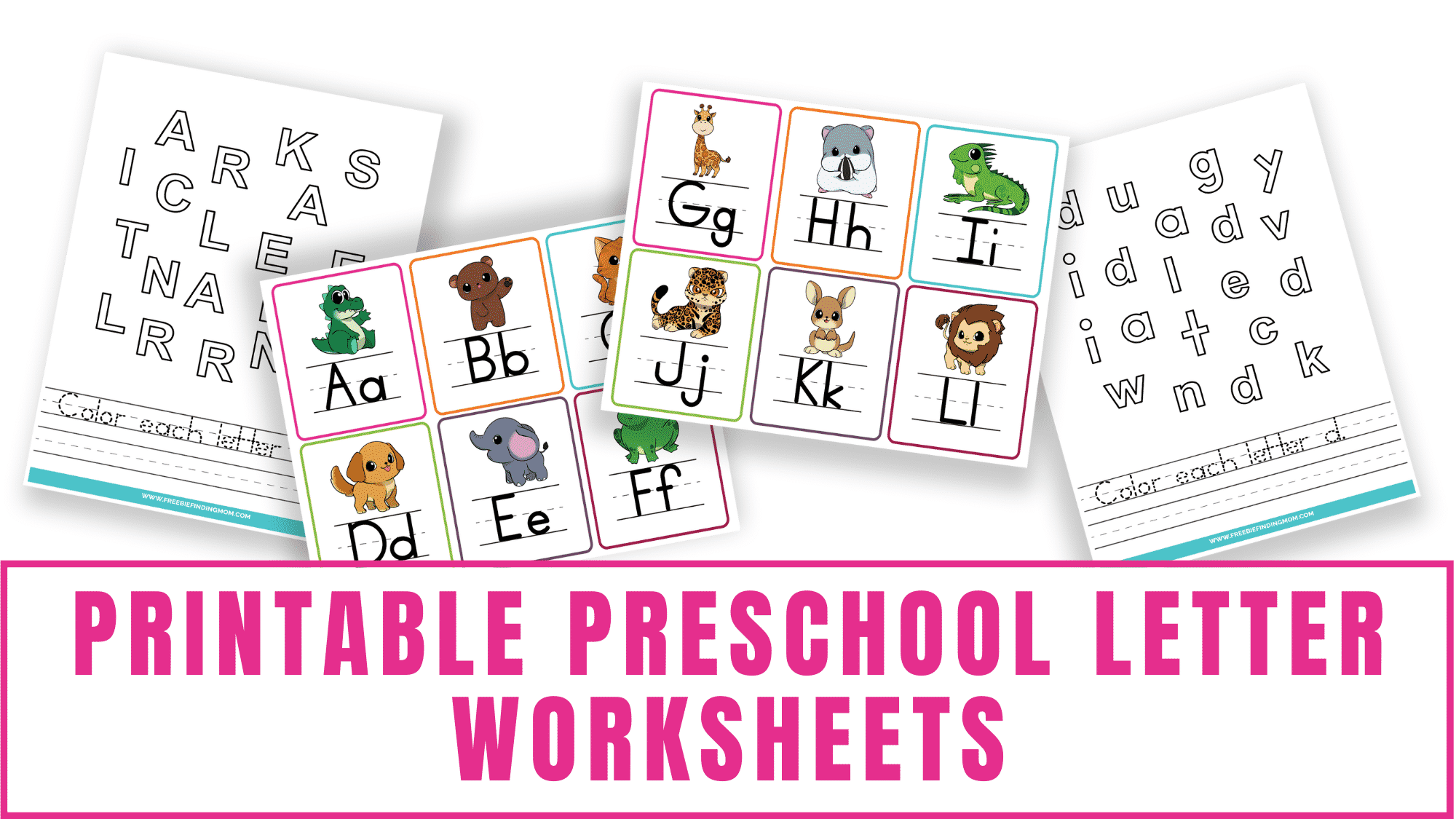 Download these printable preschool letter worksheets to help your kid work on letter recognition of uppercase and lowercase letters. Turn the printable letter flashcards into a fun letter game.