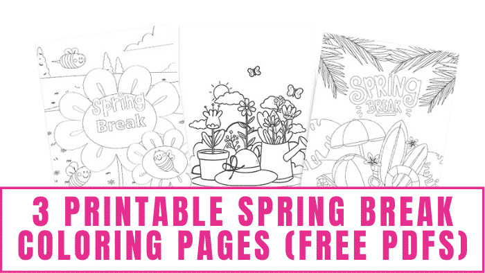 Can't be on vacation but wish you could? Well with these printable spring break coloring pages free pdfs you can at least color one.