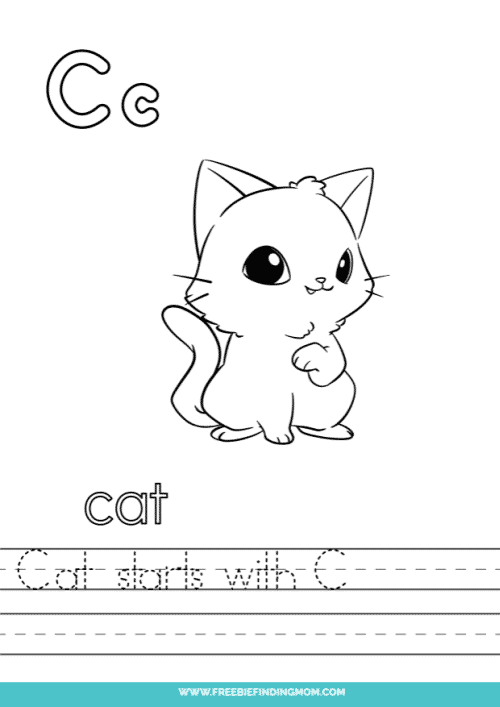 printable words that start with C worksheet