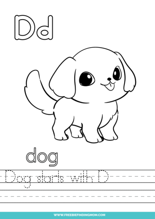 printable words that start with D worksheet