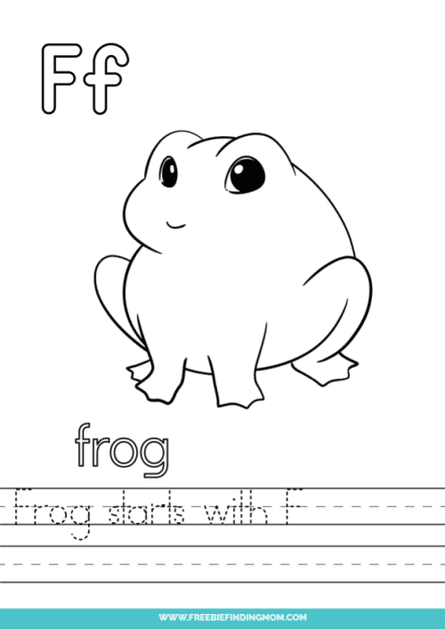 printable words that start with F worksheet
