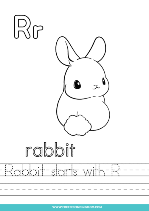 printable words that start with R worksheet