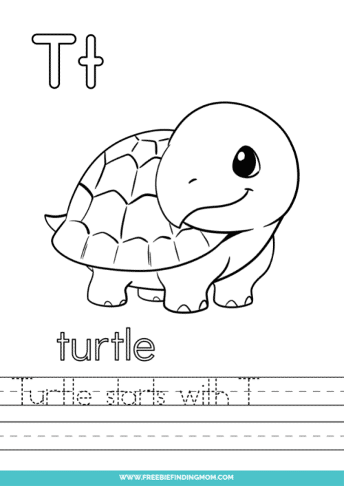 printable words that start with T worksheet