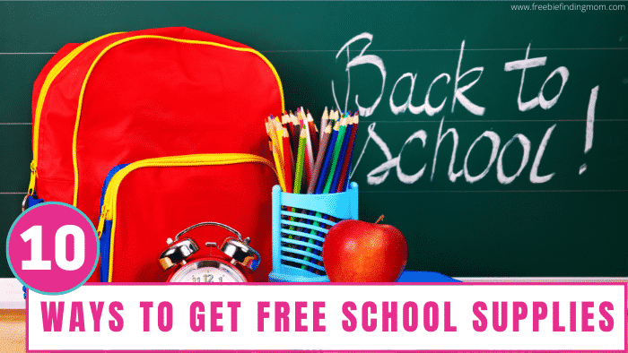 Do you feel like your budget is bursting at the seams because of back to school shopping? Do yourself and your wallet a favor by using these ways to get free school supplies.