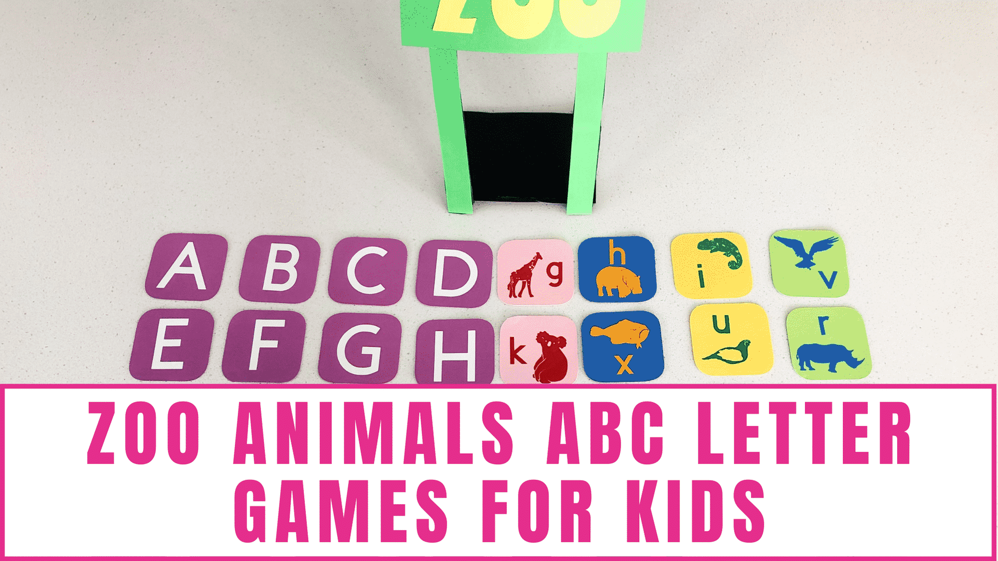 zoo animals ABC letter games for kids