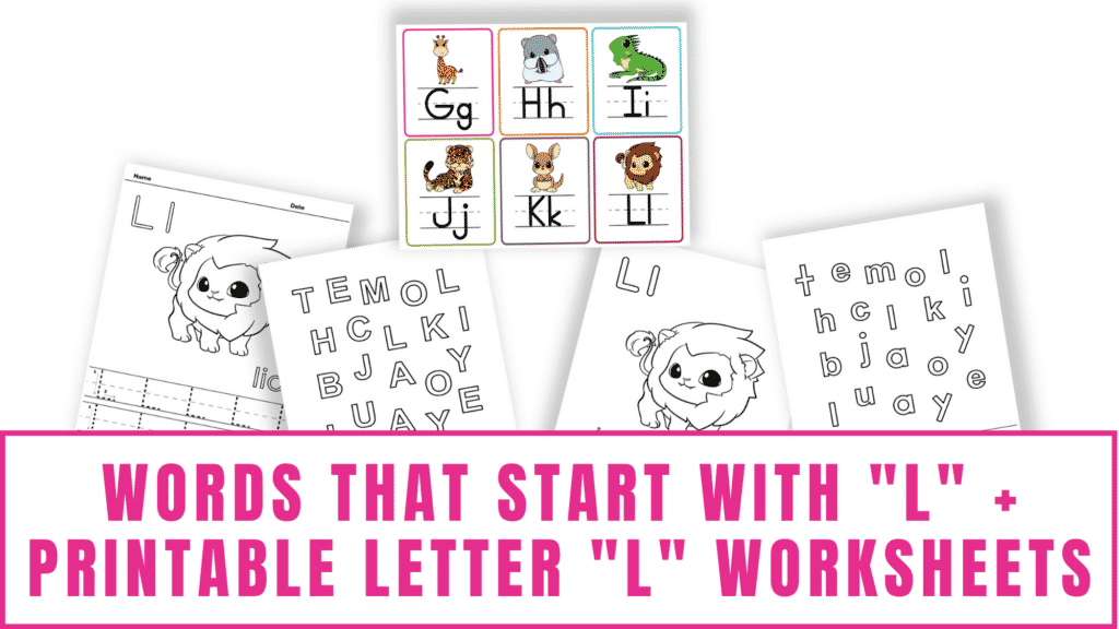 words that start with L printable letter L worksheets