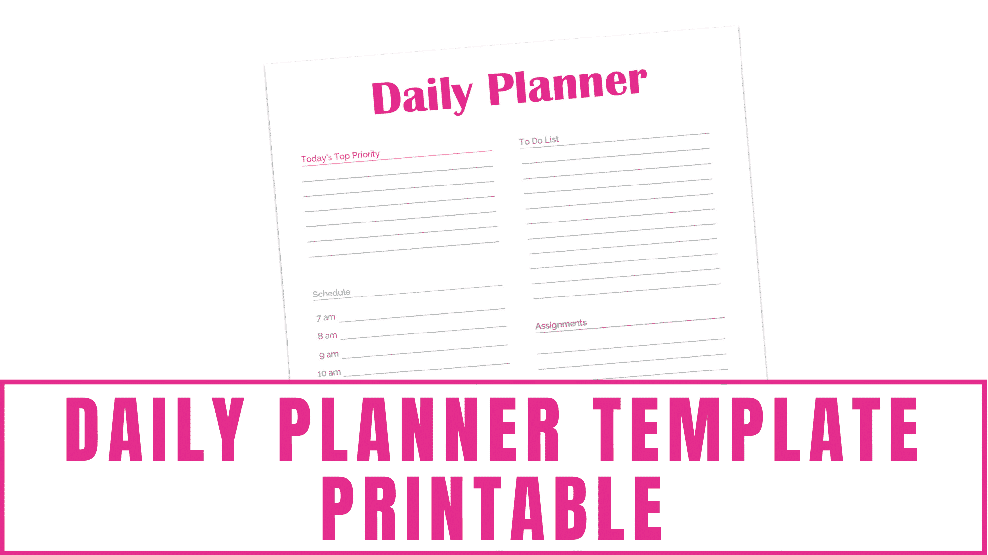 In this 13-page student planner printable you'll receive this daily planner template printable that will allow you to keep your assignments, extracurricular activities, appointments, and other tasks organized.
