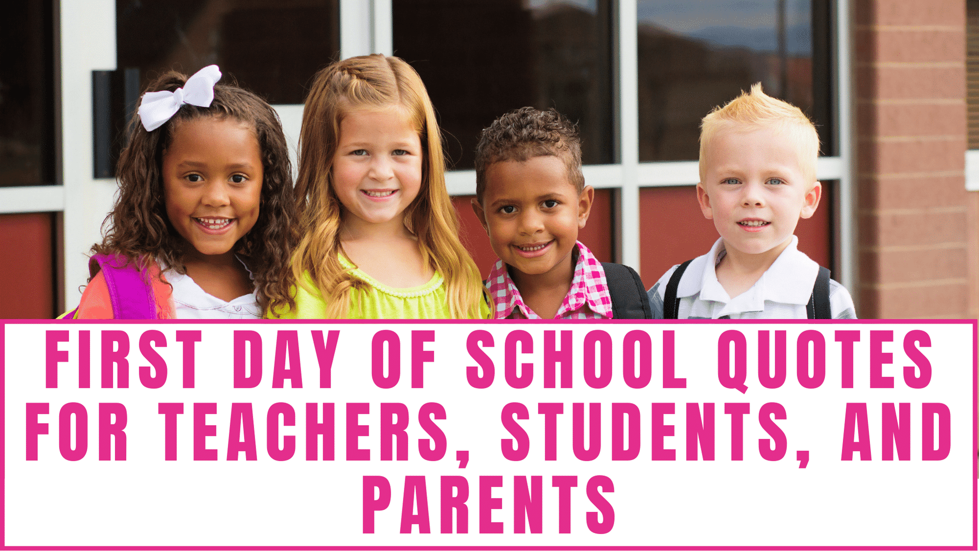 Depending on if you are the parent, the teacher or the student, the first day of school can be exciting or scary. Here you'll find first day of school quotes for teachers students and parents that fit both of these emotions.