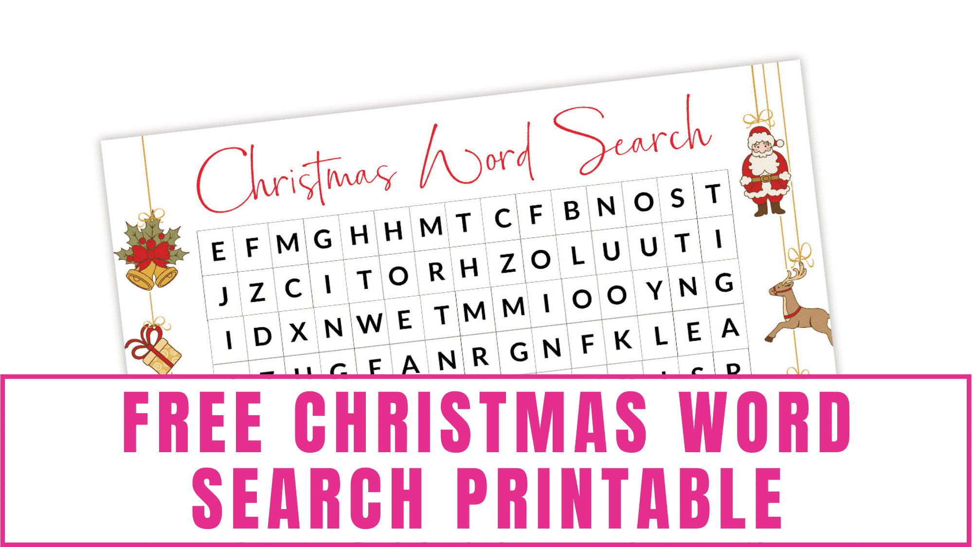 Looking for a fun Christmas activity for kids? This free Christmas word search printable is perfect because kids (and adults) will enjoy it and it's mess free.