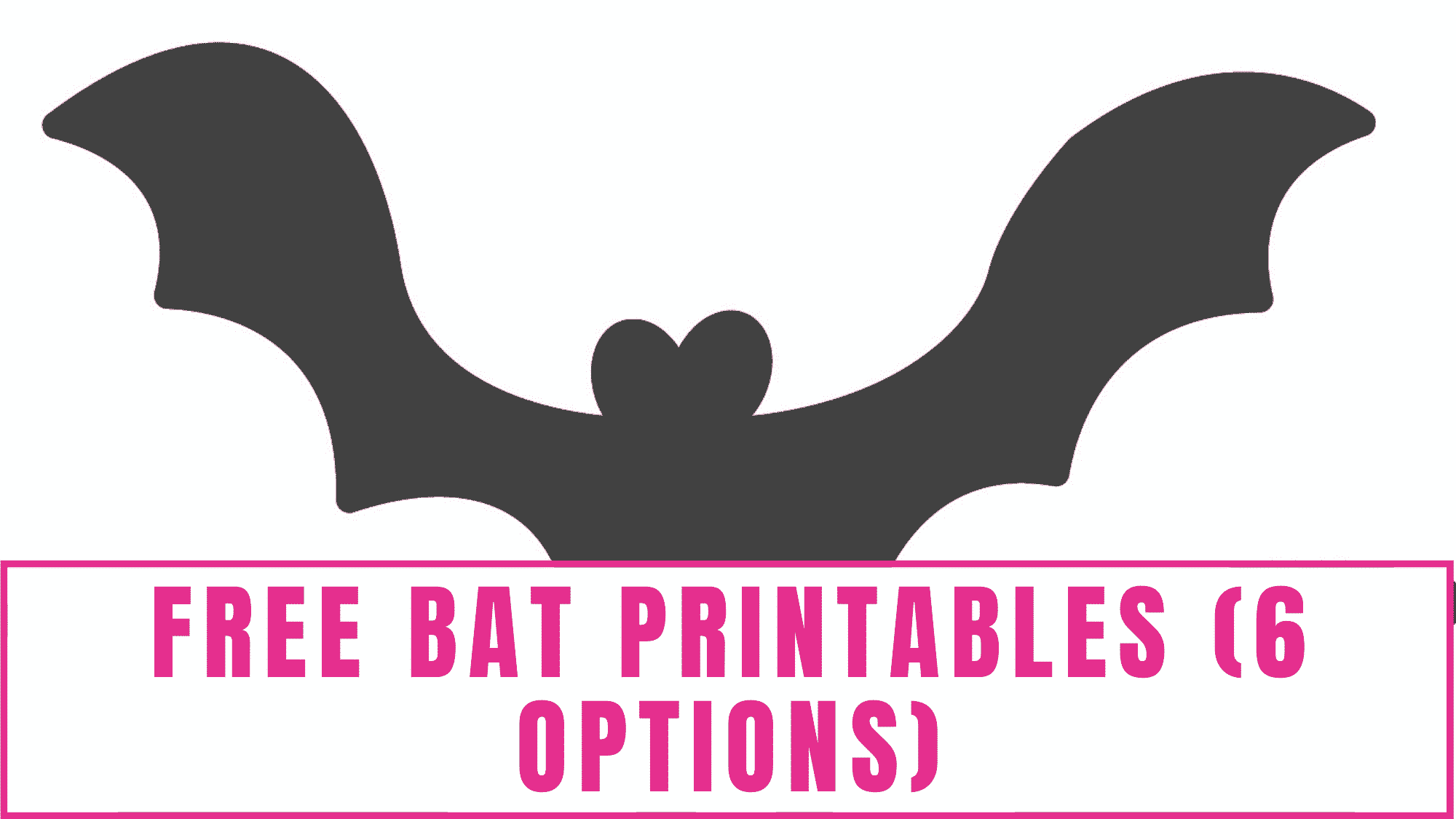 """Add these free bat printables to any """"You've been booed"""" printable and treats bag."""
