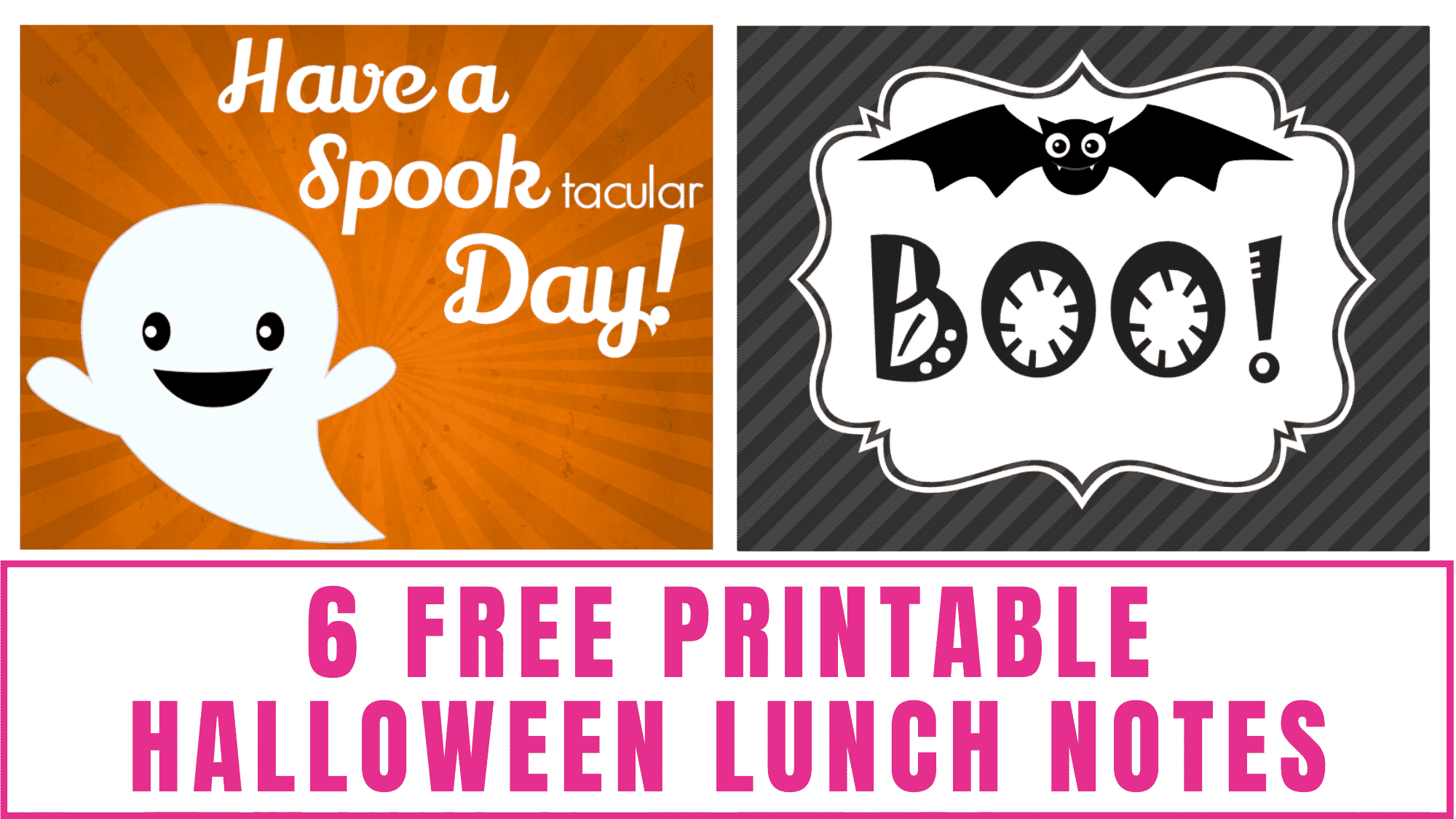 Surprise your kid with one these fun free printable Halloween lunch notes to get them in the Halloween spirit.
