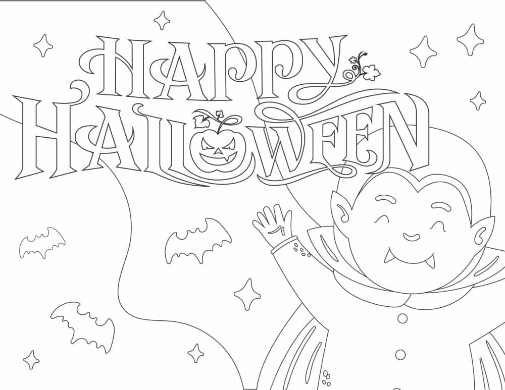 Maybe these free printable Halloween signs coloring sheet will show your kid that some so-called monsters are simply misunderstood