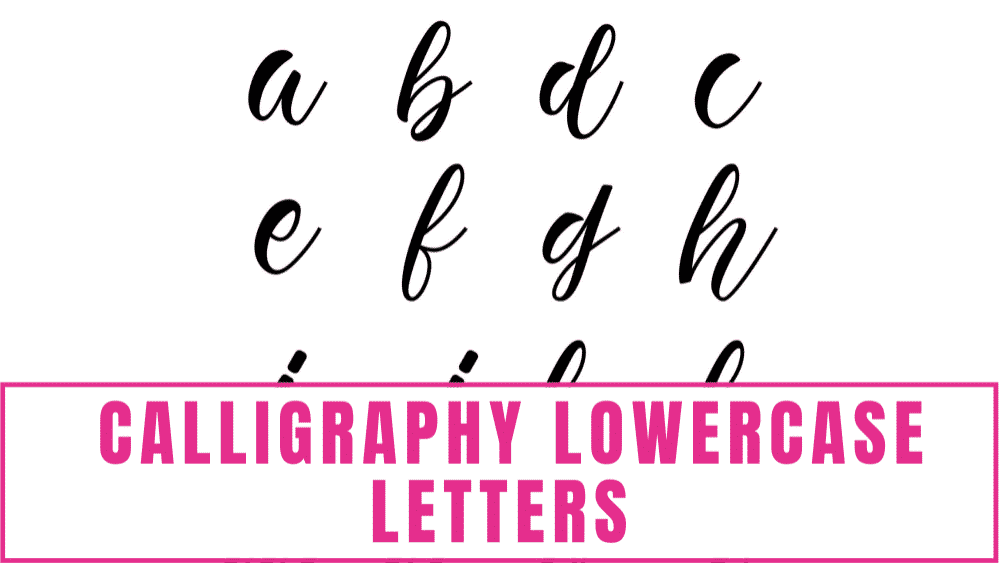 These free printable beginner calligraphy alphabet lowercase letters are great to start learning how to write calligraphy.