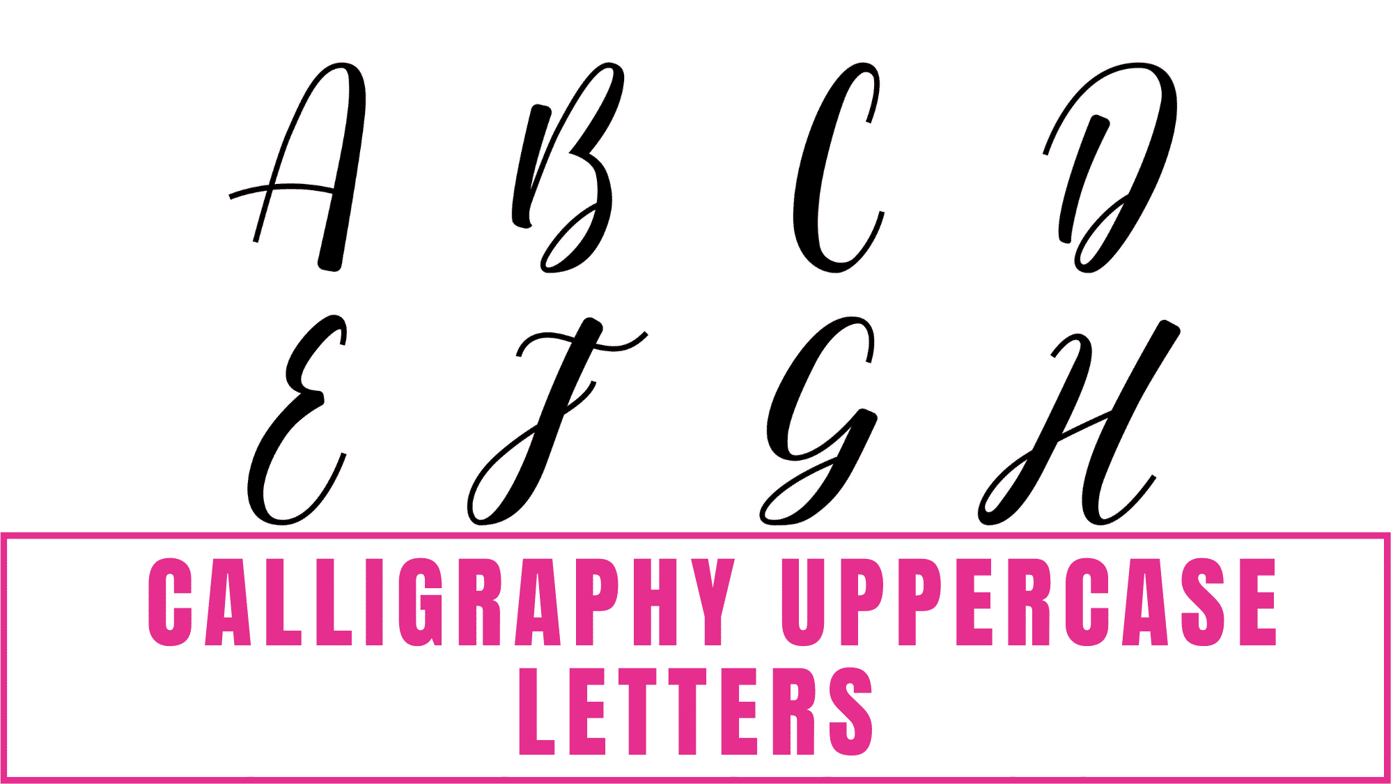 If you are looking for a simple and elegant calligraphy font, these free printable beginner calligraphy alphabet uppercase letters are perfect.