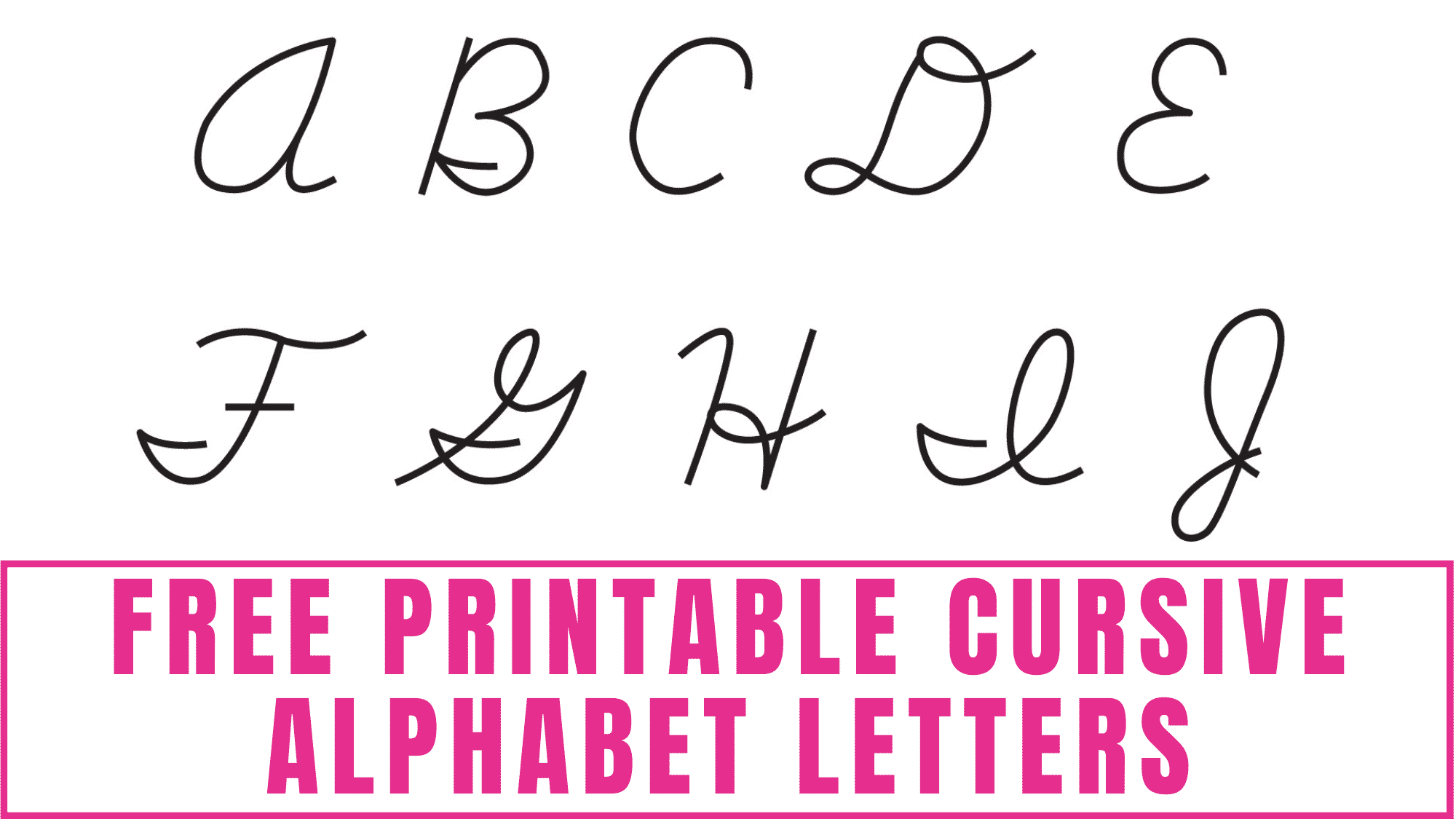 Use these free printable cursive alphabet letters to learn how to write cursive letters.