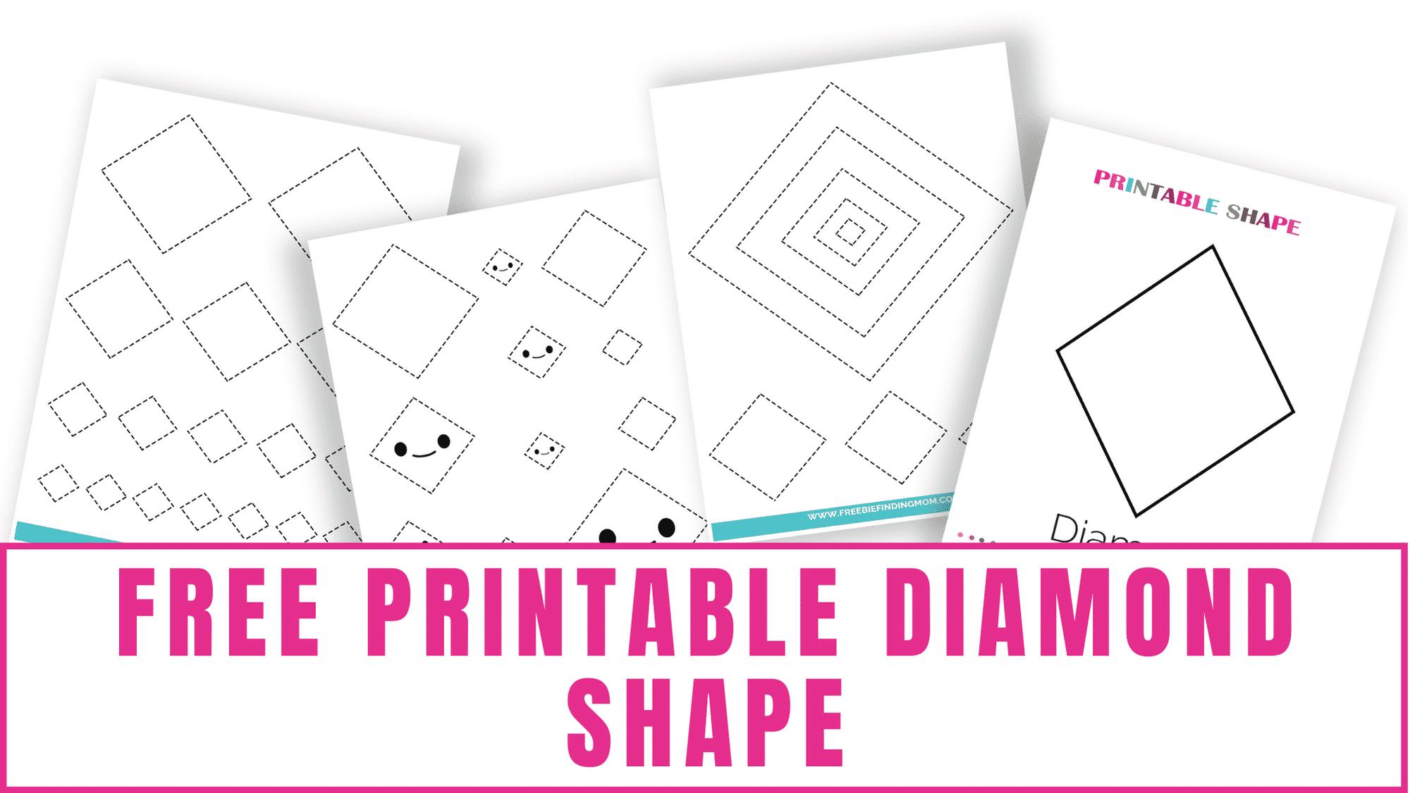Need help drawing the perfect diamond? Trace this free printable diamond shape to help.