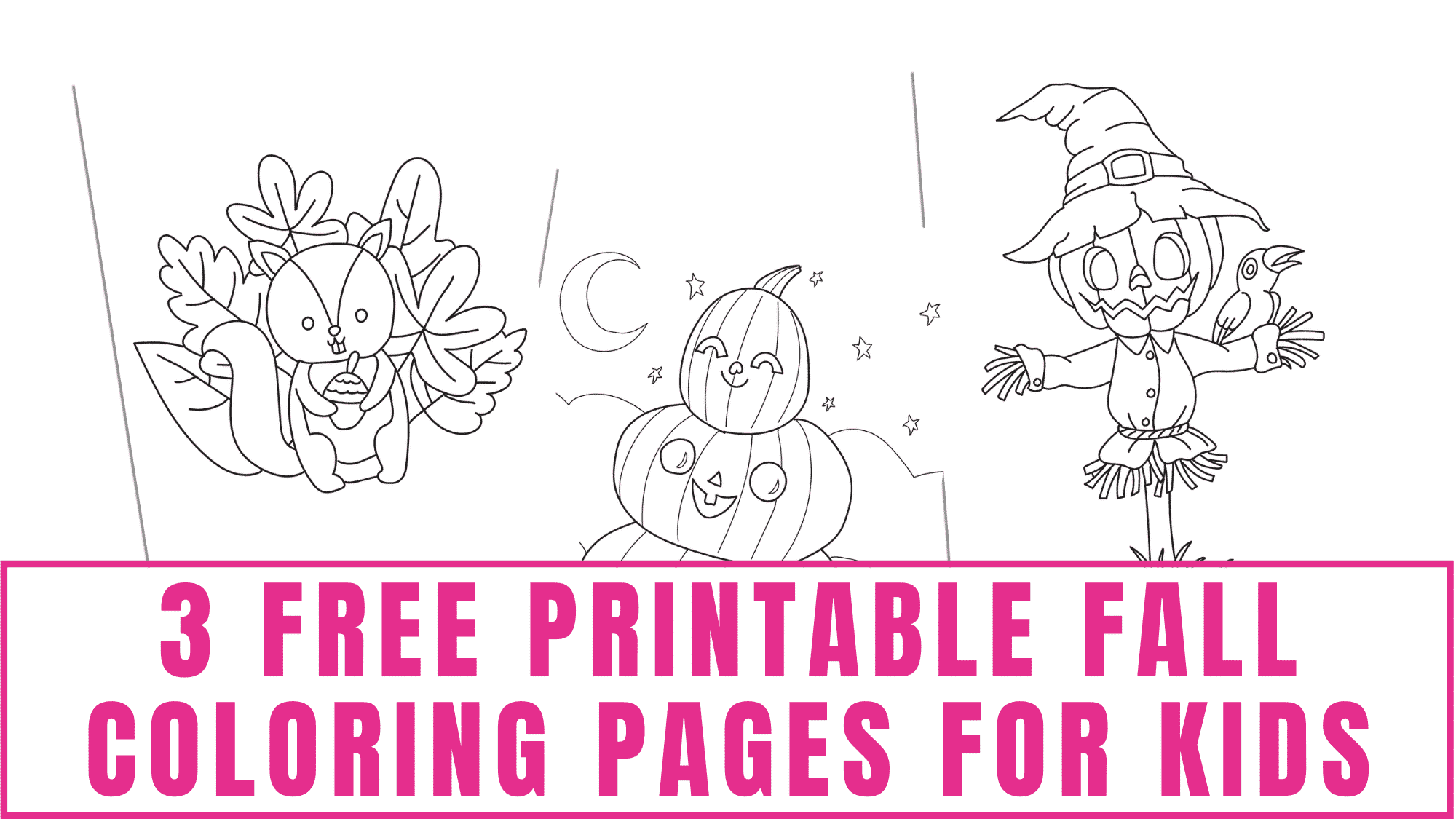 Get your kid excited about the fall season by having him/her decorate one of these free printable fall coloring pages for kids.