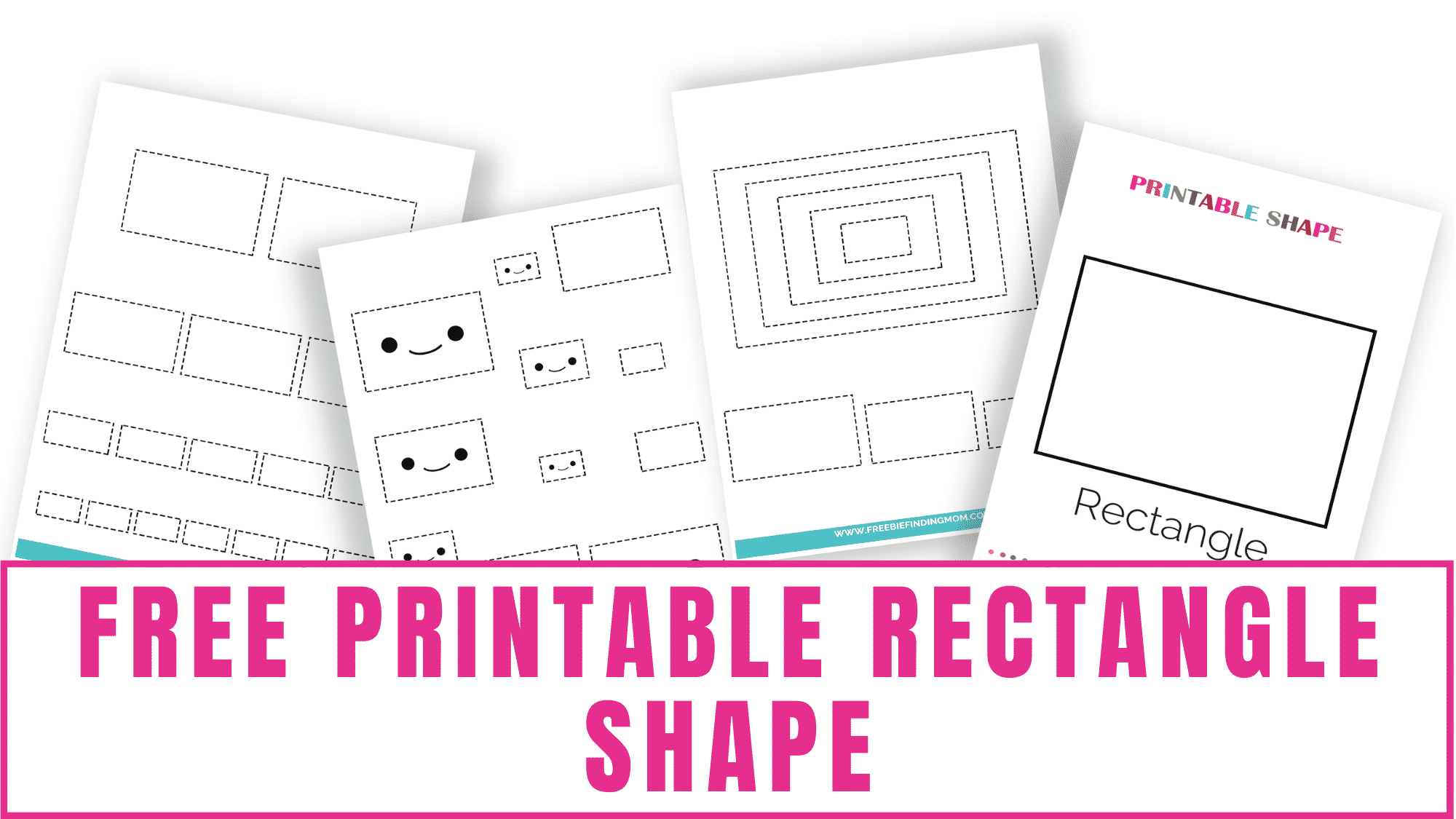 This free printable rectangle shape can be used by students of all ages. Toddlers can make it a shapes coloring page and older kids can use it to learn perimeter or area.
