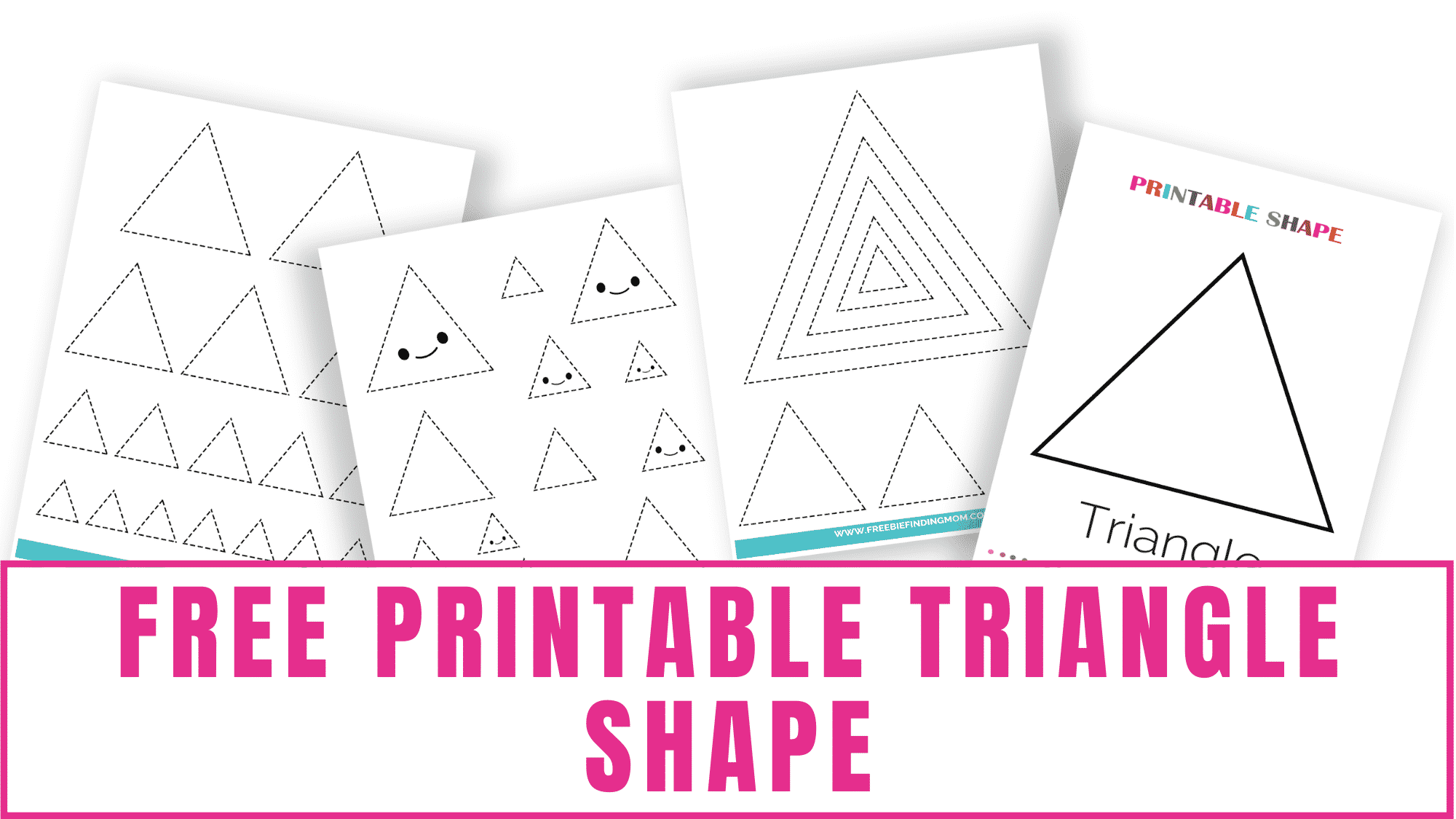 This free printable triangle shape can easily become a triangle tracing worksheet for kids, a triangle shape coloring page for preschoolers, and more.