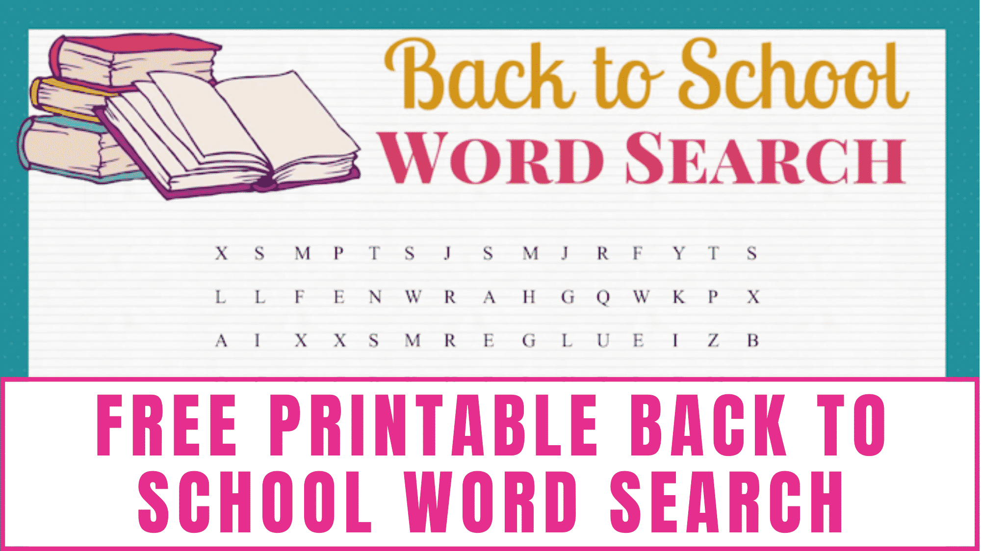 Calling all teachers who are looking for a fun first day of school activity? This free printable word search back to school is perfect.