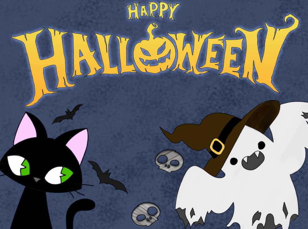 Ring in the witching hour with these free Halloween signs printable downloads featuring staples like a black cat, ghost, bats, and skulls.