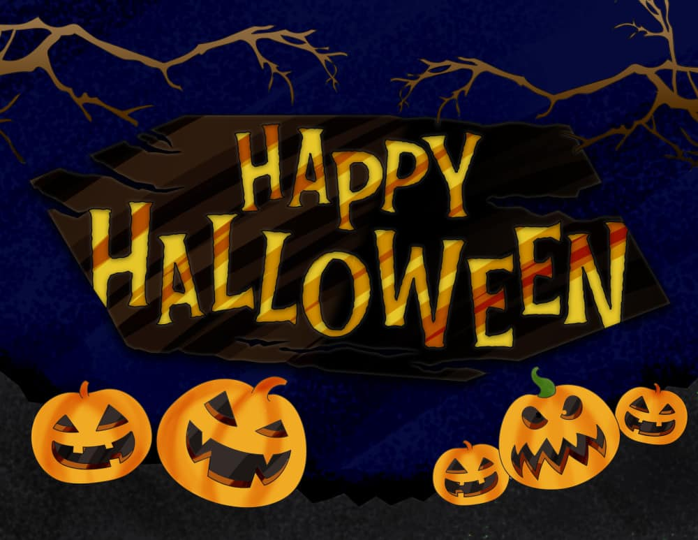 Some of the pumpkins on this free happy Halloween sign printable download look a little menacing!