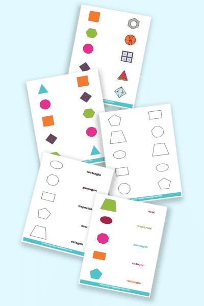 matching shapes worksheets printable downloads