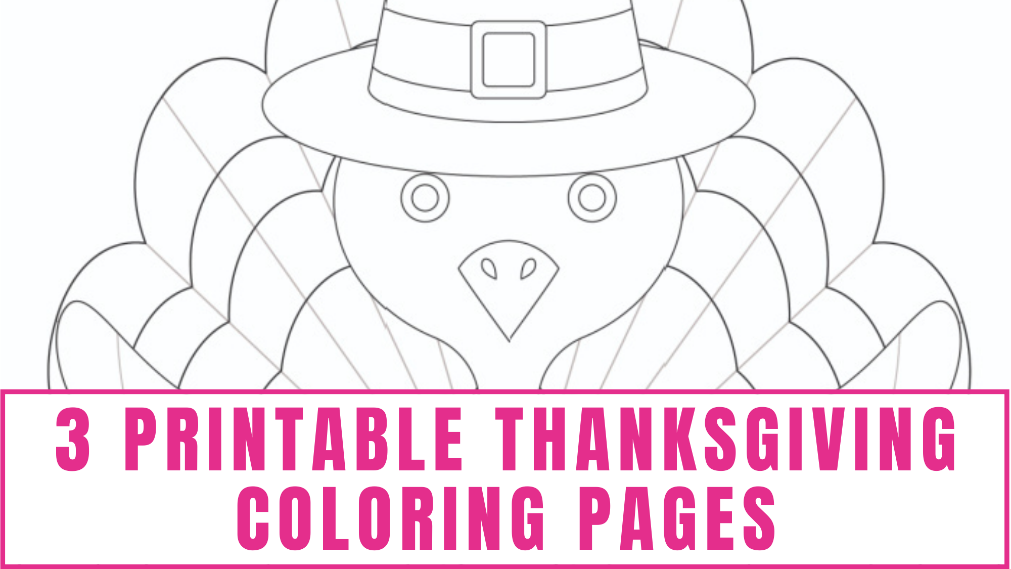 Need a printable turkey for a fall craft for kids? These printable Thanksgiving coloring pages free downloads not only contain a cute printable turkey but more fun Thanksgiving coloring sheets as well.