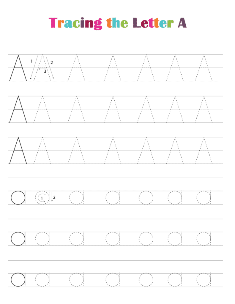 printable free letter tracing worksheets pdf downloads tracing letter A