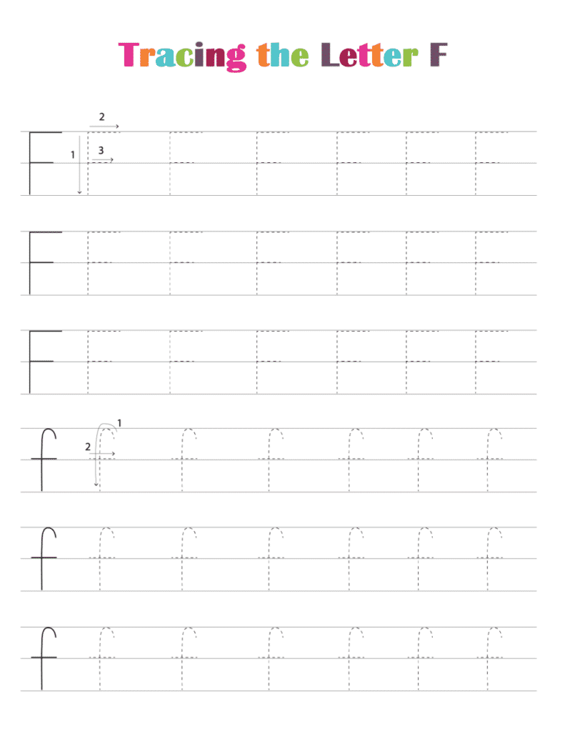 printable free letter tracing worksheets pdf downloads tracing letter F
