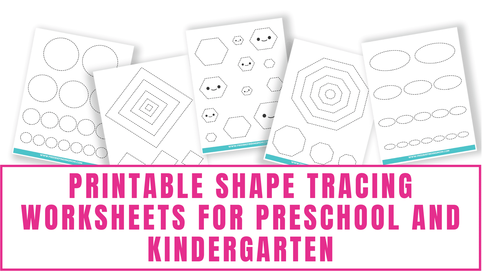 Printable shape tracing worksheets for preschool and kindergarten make learning how to draw shapes fun. Encourage your kids to turn these shape tracing pages into shape coloring pages by decorating them.