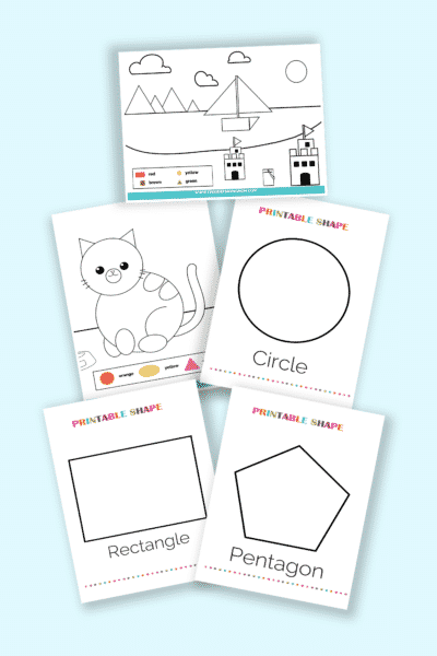 printable shapes coloring pages pdf downloads