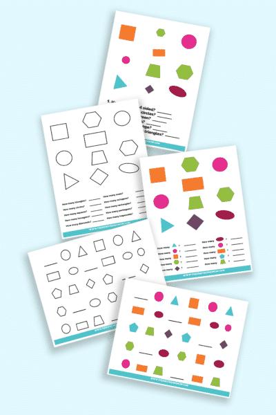 printable shapes worksheets for kindergarten pdf downloads
