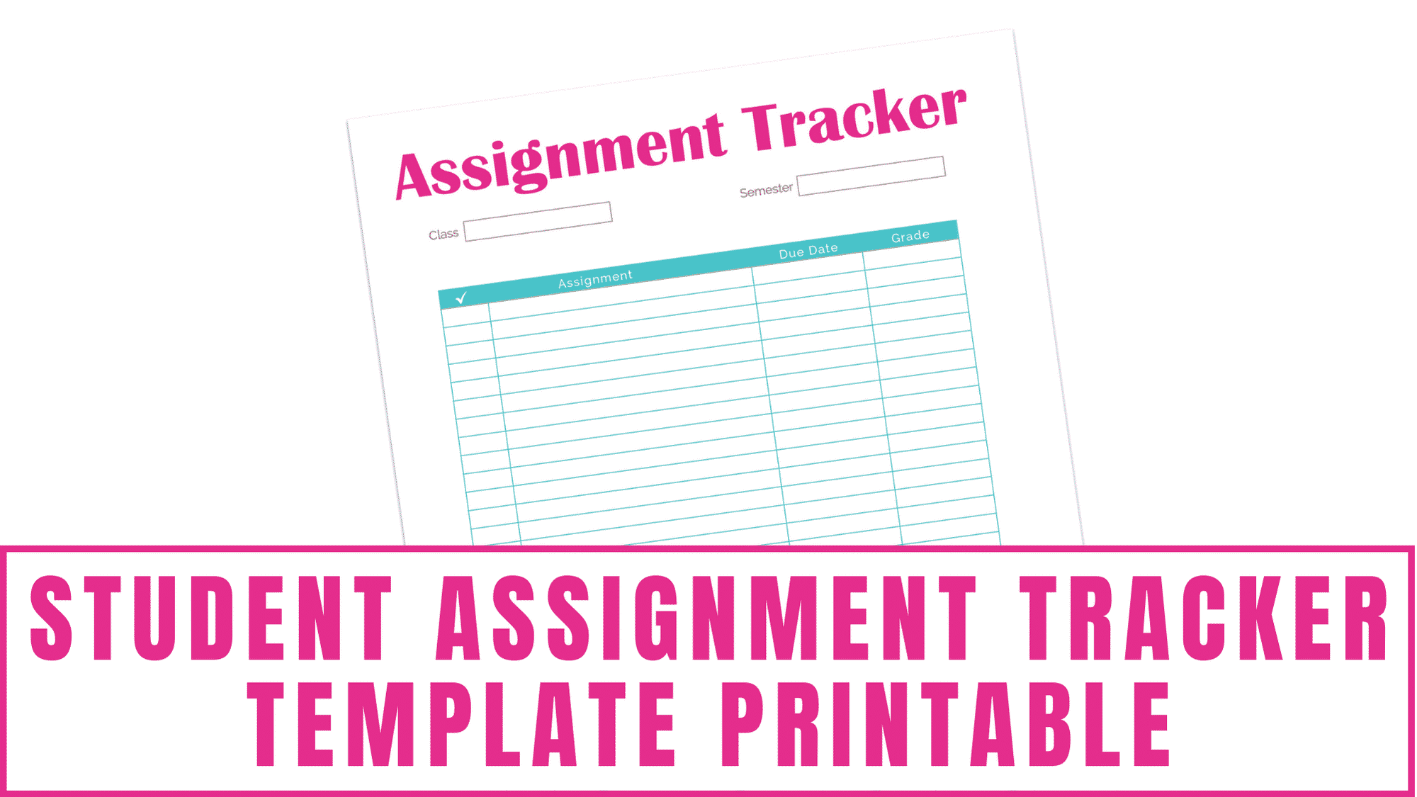 Tired of your kid forgetting their homework? Maybe you are a student and can't seem to remember all of your assignments? Both will benefit from this student assignment tracker template printable which will allow you to track your homework and your grades.