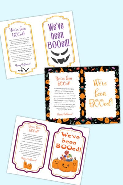 you've been booed printable pdf downloads