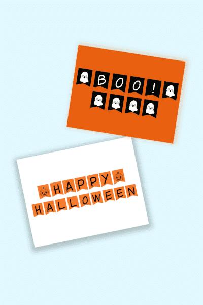 Halloween bunting printables