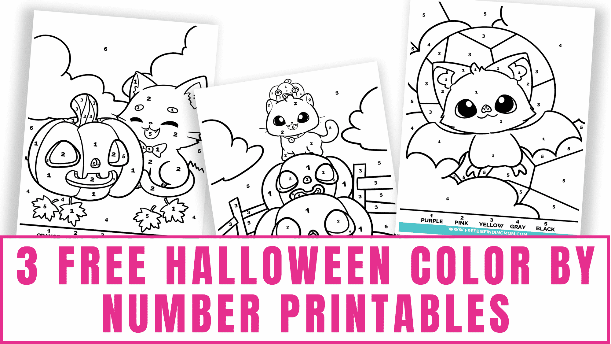 Looking for some Halloween fun? These free Halloween color by number printables will keep your preschoolers and toddlers busy at least for a few minutes. Another bonus is they'll get to work on their numbers and counting as well.